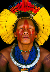 """Kayapo Menorony-re or Warrior, Kapoto Village, Para, Brazil. Similar to the East African Maasai and Samburu tribes, there is a warrior age-grade in Kayapo culture. These handsome, energetic young men do everything together--paint each other, dance and sing, hunt and eat. They are free spirits able to come and go as they please. <br /> <br /> BIO: Over the course of his remarkable career, photographer Art Wolfe has worked on every continent and in hundreds of locations and his goal has always been to win support for conservation issues by """"focusing on what's beautiful on the Earth."""" His photographs are recognized throughout the world for their mastery of color, composition and perspective. Wolfe's photographic mission is multi-faceted: art, wildlife advocacy, education, and journalism inform his work.<br /> Hailed as """"the most prolific and sensitive recorder of a rapidly vanishing natural world,"""" Wolfe's work has appeared in the world's top magazines, such as National Geographic, Smithsonian, Audubon, GEO, Stern, and Terre Sauvage.<br /> In May 2007 Wolfe made his public television debut with the Canon- and Microsoft-sponsored, award-winning television series Art Wolfe's Travels to the Edge, an intimate and upbeat series that offers insights on nature, culture, and the realm of digital photography. He was also featured in the 2015 Canon Australia/National Geographic Channel production Tales by Light, now streaming globally on Netflix.<br /> <br /> Since his first publication in 1978, Wolfe has released over 100 books in all editions; 2014 saw the release of his magnum opus Earth Is My Witness; this mega project features Wolfe's favorite photos taken so far and garnered international accolades and awards. Other award-winning titles include Human Canvas, Trees Between Earth and Heaven, and Wild Elephants.<br /> <br /> WEBSITE: artwolfe.com<br /> INSTAGRAM: @artwolfe"""