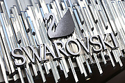 Sign for luxury jewellery and crystal shop Swarovski.