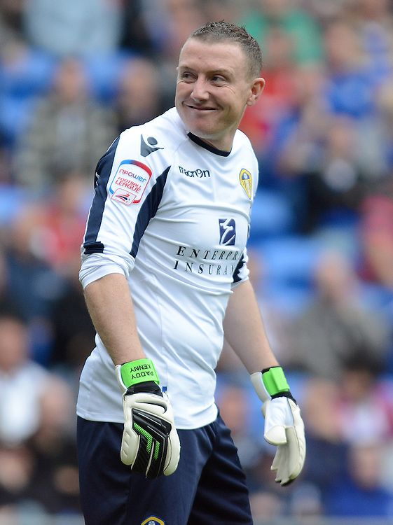 Leeds United's Paddy Kenny smiles back at the Cardiff City fans..Football - npower Football League Championship - Cardiff City v Leeds United - Saturday 15th September 2012 - Cardiff City Stadium - Cardiff..