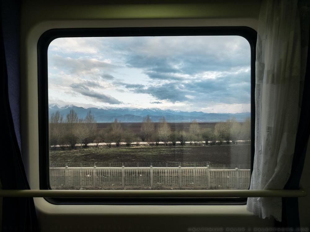 Window view across China, from Hong Kong to Urumqi, Xinjiang.