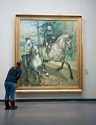 Painting Riding in the Bois de Boulogne by Auguste Renoir at Kunsthalle art museum in Hamburg Germany