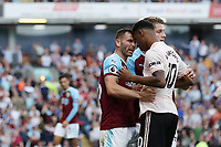 Football - 2018 / 2019 Premier League - Burnley vs. Manchester United<br /> <br /> Phillip Bardlsey of Burnley and Marcus Rashford of Manchester United clash heads with each other at Turf Moor.<br /> <br /> COLORSPORT/PAUL GREENWOOD