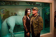 ALI HEWSON; BONO, Damien Hirst party to preview his exhibition at Sotheby's. New Bond St. London. 12 September 2008 *** Local Caption *** -DO NOT ARCHIVE-© Copyright Photograph by Dafydd Jones. 248 Clapham Rd. London SW9 0PZ. Tel 0207 820 0771. www.dafjones.com.