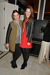 Left to right, ROSIE MONEY-COUTTS and SOPHIA MONEY-COUTTS at the Tatler Little Black Book Party held at Home House Private Member's Club, Portman Square, London supported by CARAT on 6th November 2014.