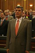 Jan 04, 2008 - Pristina, Kosovo, Serbia - Kosovo Prime Minister HASHIM THACI during his first meeting in the Kosovo Parliament. (Credit Image: © Vedat Xhymshiti/ZUMA Press)