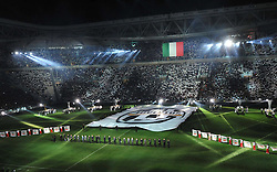"08.09.2011, Juventus Arena, Turin, ITA, FSP, Juventus Turin vs Nottos County anlässlich der Neueröffnung des Stadion von Juventus Turin, im Bild Opening ceremony of new Juventus Stadium (Juventus).Inaugurazione del nuovo stadio della Juventus.Torino 8/9/2011 Stadio ""Juventus stadium"".Football Calcio 2011/2012 Friendly match.Juventus Vs Nottos County. EXPA Pictures © 2011, PhotoCredit: EXPA/ InsideFoto/ Alessandro Sabattini +++++ ATTENTION - FOR AUSTRIA/(AUT), SLOVENIA/(SLO), SERBIA/(SRB), CROATIA/(CRO), SWISS/(SUI) and SWEDEN/(SWE) CLIENT ONLY +++++"