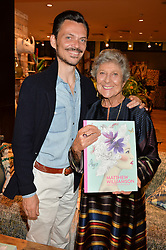 MATTHEW WILLIAMSON and JOAN BURSTEIN at a party to celebrate the launch of Matthew Williamson: Fashion, Print and Colouring Book held at Anthropologie, 158 Regent Street, London on 8th September 2016.