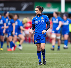 Sara Barattin of Italy<br /> <br /> Photographer Simon King/Replay Images<br /> <br /> Six Nations Round 1 - Wales Women v Italy Women - Saturday 2nd February 2020 - Cardiff Arms Park - Cardiff<br /> <br /> World Copyright © Replay Images . All rights reserved. info@replayimages.co.uk - http://replayimages.co.uk