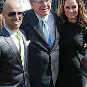 NLD/Amsterdam/20120721 - Huwelijk Berget Lewis en Sebastiaan van Rooijen, Ds. Huub Oosterhuis en dochter Trijntje en zoon Tjeerd