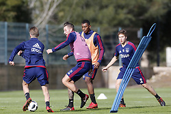 (L-R), Mitchell Dijks of Ajax, Mateo Cassierra Ajax, Carel Eiting of Ajax during a training session of Ajax Amsterdam at the Cascada Resort on January 10, 2018 in Lagos, Portugal