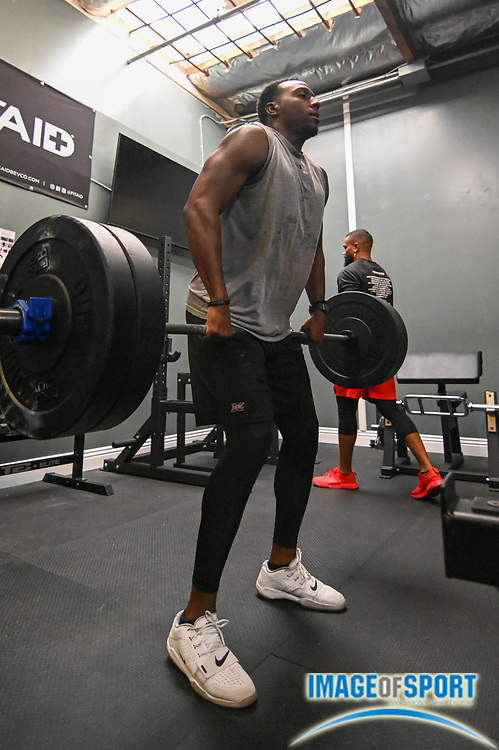 Former XFL Wildcats linebacker Will Smith during a workout at Team Elite Sports Academy, Thursday, Sept. 17, 2020, in San Bernardino, Calif. (Dylan Stewart/Image of Sport)