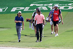 September 20, 2018 - Atlanta, GA, U.S. - ATLANTA, GA - SEPTEMBER 20: Tommy Fleetwood and Tiger Woods approach the 15th green during the first round of the PGA Tour Championship on September 20, 2018, at East Lake Golf Club in Atlanta, GA. (Photo by Michael Wade/Icon Sportswire) (Credit Image: © Michael Wade/Icon SMI via ZUMA Press)