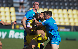 Raymond RHULE and Geoffrey DOUMAYROU of Stade Rochelais during the European Rugby Champions Cup, semi final rugby union match between Stade Rochelais and Leinster Rugby on May 2, 2021 at Marcel Deflandre stadium in La Rochelle, France - Photo Laurent Lairys / ABACAPRESS.COM