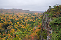 The fall colors contrasted strongly with the dull gray sky. The views from the Big Carp River Trail were incredible.<br /> <br /> Date Taken: 9/30/14