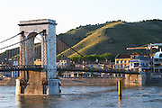 Passerelle Marc seguin, cable bridge hermitage rhone france