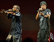 WASHINGTON, DC - November 3rd, 2011 - Chart-topping rappers Jay-Z and Kanye West perform their collaborative album Watch The Throne at the Verizon Center in Washington, D.C. (Photo by Kyle Gustafson/For The Washington Post)