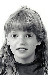 Portrait of a small girl UK 1990s MR