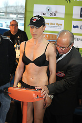 11.01.2013, Mercedes-Benz, Neu-Ulm, GER, Boxen WIBA, Rola el Halabi vs Lucia Morelli, Wiegen, im Bild Lucia MORELLI beim Wiegen // during WIBA Boxing Fight between Rola el Halabi and Lucia Morelli at Mercedes-Benz, Neu-Ulm, Germany on 2012/01/11. EXPA Pictures © 2013, PhotoCredit: EXPA/ Eibner/ Harry Langer..***** ATTENTION - OUT OF GER *****