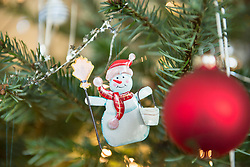 Detail of decorated Christmas tree