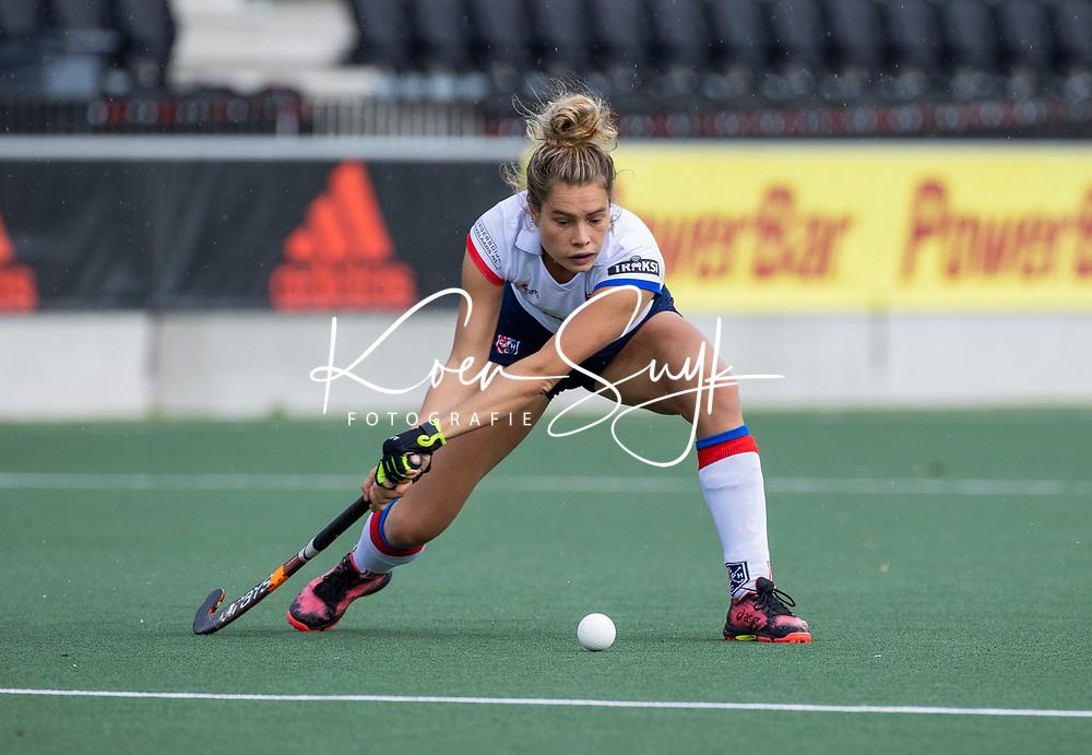 AMSTELVEEN -  Suzanne Homma (SCHC)    tijdens de hoofdklasse hockeywedstrijd dames, zonder publiek vanwege COVID-19, AMSTERDAM-SCHC (2-2). COPYRIGHT KOEN SUYK