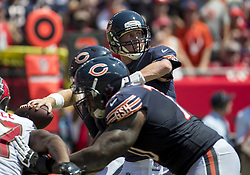September 17, 2017 - Tampa, IL, USA - Chicago Bears quarterback Mike Glennon (8) throws in the second quarter against the Tampa Bay Buccaneers on Sunday, Sept. 17, 2017 at Raymond James Stadium in Tampa, Fla. (Credit Image: © Brian Cassella/TNS via ZUMA Wire)