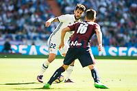 "Real Madrid's player Francisco Roman ""Isco"" and Eibar FC's player Francisco Manuel Rico during a match of La Liga Santander at Santiago Bernabeu Stadium in Madrid. October 02, Spain. 2016. (ALTERPHOTOS/BorjaB.Hojas)"