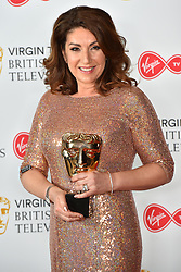 Jane MacDonald, with her BAFTA for Feature programme Crusing with Jane MacDonald, at the Virgin TV British Academy Television Awards 2018 held at the Royal Festival Hall, Southbank Centre, London.