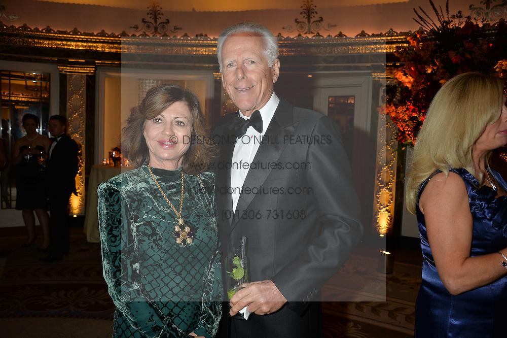MICHAEL & PILAR BOXFORD at the 26th Cartier Racing Awards held at The Dorchester, Park Lane, London on 8th November 2016.