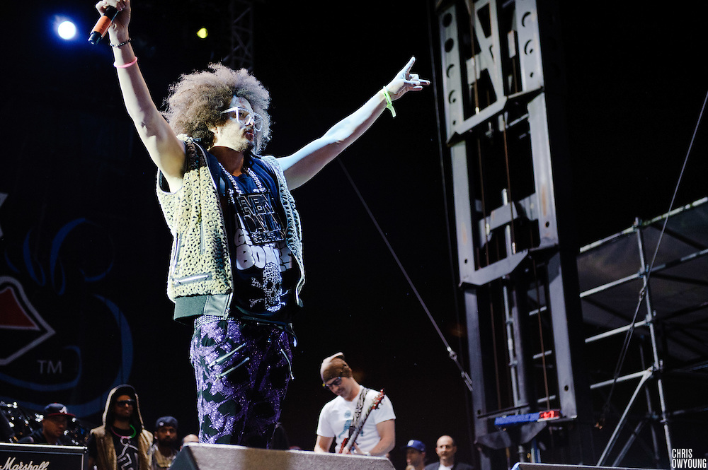 LMFAO performs at the Bamboozle Music Festival. Meadowlands Sports Complex, East Rutherford, NJ.  April 30, 2011. Copyright © 2011 Chris Owyoung.