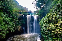 Indonesia, Java, Lembang. In Maribaya you will find waterfalls, hotsprings and a beautiful landscape.