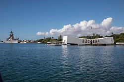 USS Arizona With The USS Missouri, Pearl Harbor