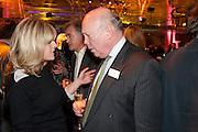 RACHEL JOHSNON; ANTONY BEEVOR; JULIAN FELLOWES, Orion Authors' Party,  Royal Opera House, Covent Garden, London. 15 February 2011. <br /> -DO NOT ARCHIVE-© Copyright Photograph by Dafydd Jones. 248 Clapham Rd. London SW9 0PZ. Tel 0207 820 0771. www.dafjones.com.