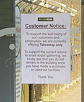 Oxford services take away only notice  photo by Michael Butterworth