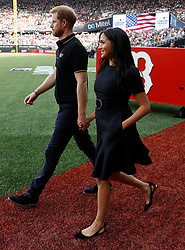 June 29, 2019 - London, London, United Kingdom - Image licensed to i-Images Picture Agency. 29/06/2019. London, United Kingdom. Prince Harry and Meghan Markle, the Duke and  Duchess of Sussex, at the Boston Red Sox v New York Yankees baseball game  in London. (Credit Image: © Pool/i-Images via ZUMA Press)