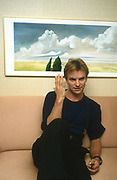 Sting backstage  The Police on tour 1979