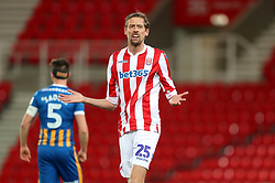 Stoke City's Peter Crouch appeals