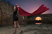 Photoshop composition with Model Susanne M. Rivera at Patillas, Puerto Rico. (2016)