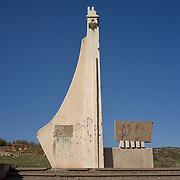 Communist monument to partisans in Šulin, Albania