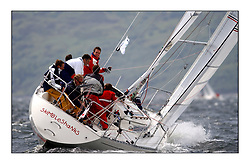 Yachting- The first days inshore racing  of the Bell Lawrie Scottish series 2002 at Tarbert Loch Fyne. Near perfect conditions saw over two hundred yachts compete. <br /><br />skimbleshanks K4587 sigma 33<br />Pics Marc Turner / PFM