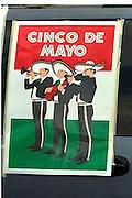 Mariachi band on Cinco de Mayo promotional poster.  St Paul Minnesota USA