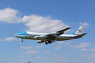 US President Joe Biden Presidential aviation transport landing at Heathrow Airport