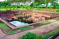 Java, East Java, Trowulan. Candi Tikus not far from Trowulan.