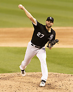 CHICAGO - JUNE 14:  Lucas Giolito #27 of the Chicago White Sox pitches against the New York Yankees to earn his tenth win of the season on June 14, 2019 at Guaranteed Rate Field in Chicago, Illinois.  (Photo by Ron Vesely)  Subject:  Lucas Giolito