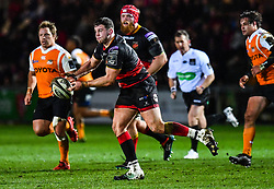 Dragons' Elliot Dee in action during todays match<br /> <br /> Photographer Craig Thomas/Replay Images<br /> <br /> Guinness PRO14 Round 18 - Dragons v Cheetahs - Friday 23rd March 2018 - Rodney Parade - Newport<br /> <br /> World Copyright © Replay Images . All rights reserved. info@replayimages.co.uk - http://replayimages.co.uk