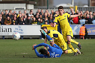 AFC Wimbledon attacker Harry Forrester (11) winning penalty during the EFL Sky Bet League 1 match between AFC Wimbledon and Oxford United at the Cherry Red Records Stadium, Kingston, England on 10 March 2018. Picture by Matthew Redman.