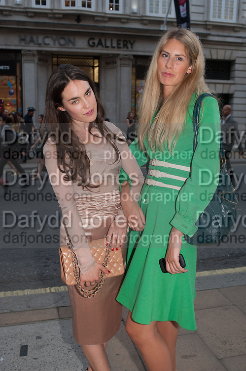 POPPY COTTERELL; TALLULAH HARLECH, Vogue's Fashion night out special opening of the Halcyon Gallery.  New Bond St. London. 6 December 2012.