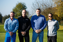 "Stuart Sinclair of Bristol Rovers joins the ""LA Raiders"" team as they take part in the Bristol Rovers charity golf day - Mandatory byline: Rogan Thomson/JMP - 07966 386802 - 12/10/2015 - GOLF - Farrington Park Golf Club - Bristol, England - Bristol Rovers Golf Day."