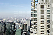 view from the Metropolitan Government Office building in Shinjuku, Tokyo Prefecture, Japan