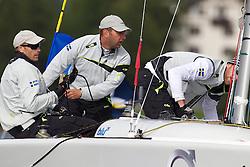 Bjorn Hansen, Hansen Global Team. St Moritz Match Race 2010. World Match Racing Tour. St Moritz, Switzerland. 2nd September 2010. Photo: Ian Roman/WMRT.