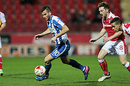 Brighton & Hove Albion centre forward Tomer Hemed (10)  runs with the ball as Lee Frecklington (Rotherham United) closes down on him during the EFL Sky Bet Championship match between Rotherham United and Brighton and Hove Albion at the AESSEAL New York Stadium, Rotherham, England on 7 March 2017. Photo by Mark P Doherty.
